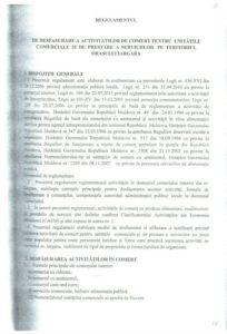 Regulamentul de desfășurare a activităților de comerțpentru unitățile comerciale și de prestare a serviciilor pe teritoriul orașului Iargara