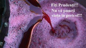 Secția Situații Excepționale Leova îndeamnă toți cetățenii să prevină situațiile de risc rezultate de emanarea gazului toxic la fermentarea vinului!
